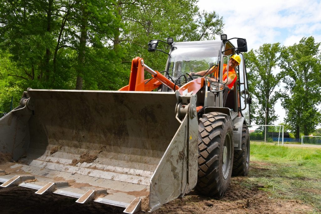 shovel egaliseren graafmachine grondverzet afgraven