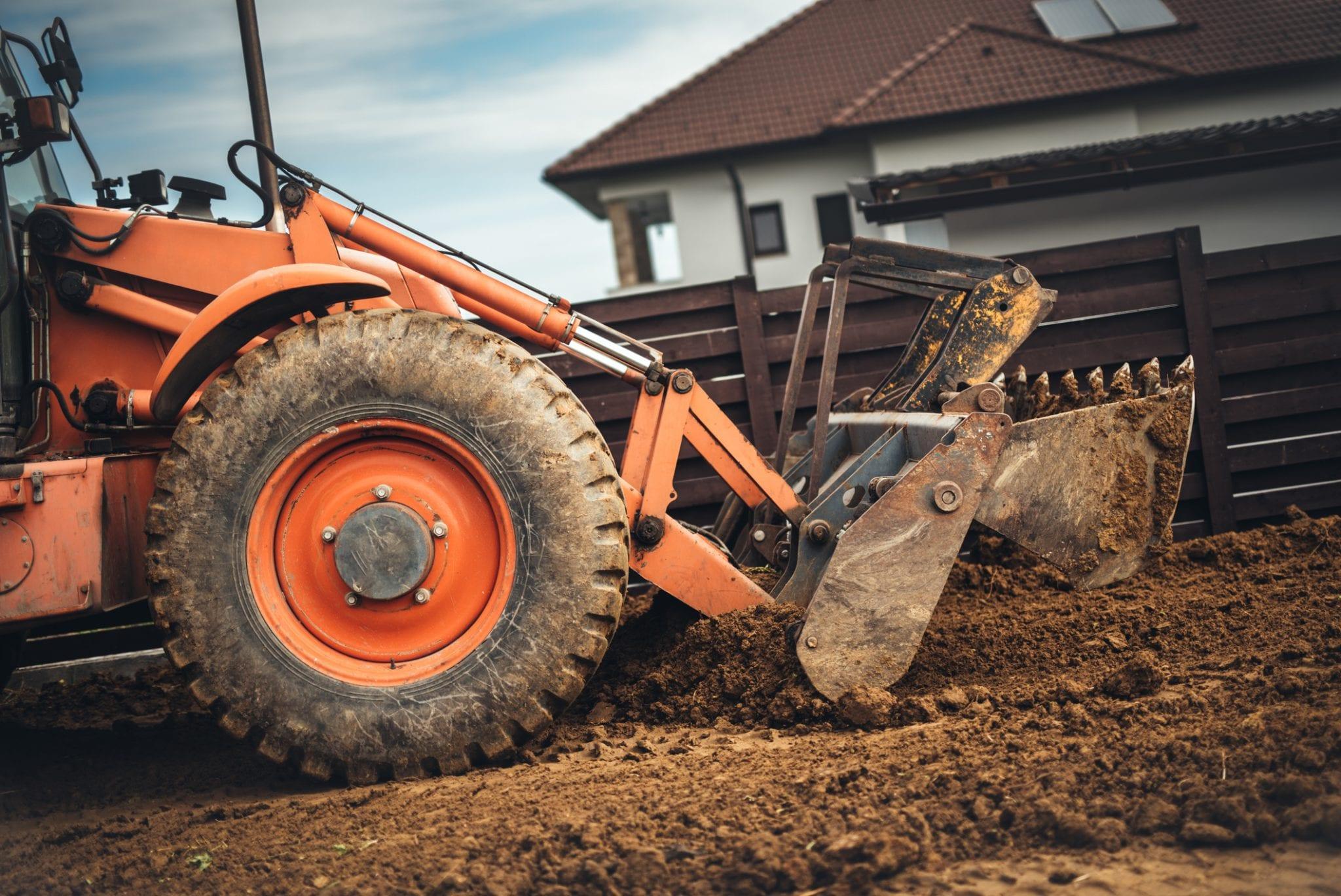 tuin afgraven ontgraven egaliseren ophogen