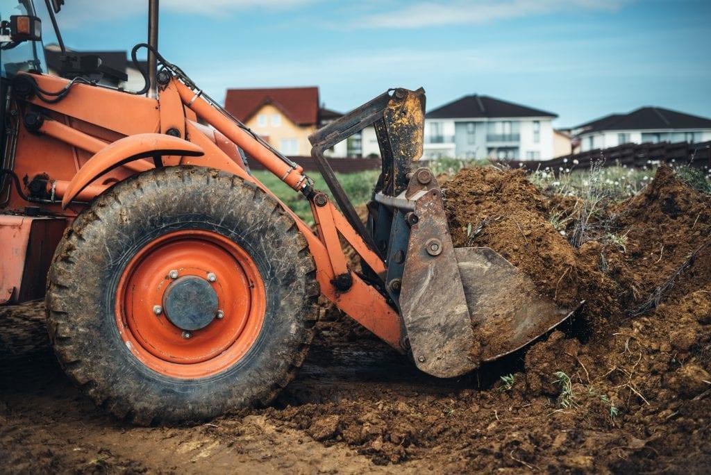 tuin afgraven egaliseren ontgraven grondverzet