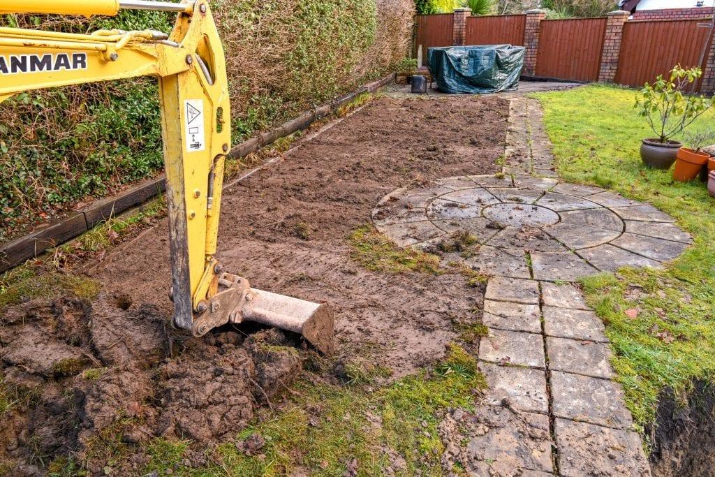 tuin afgraven uitgraven hoe diep