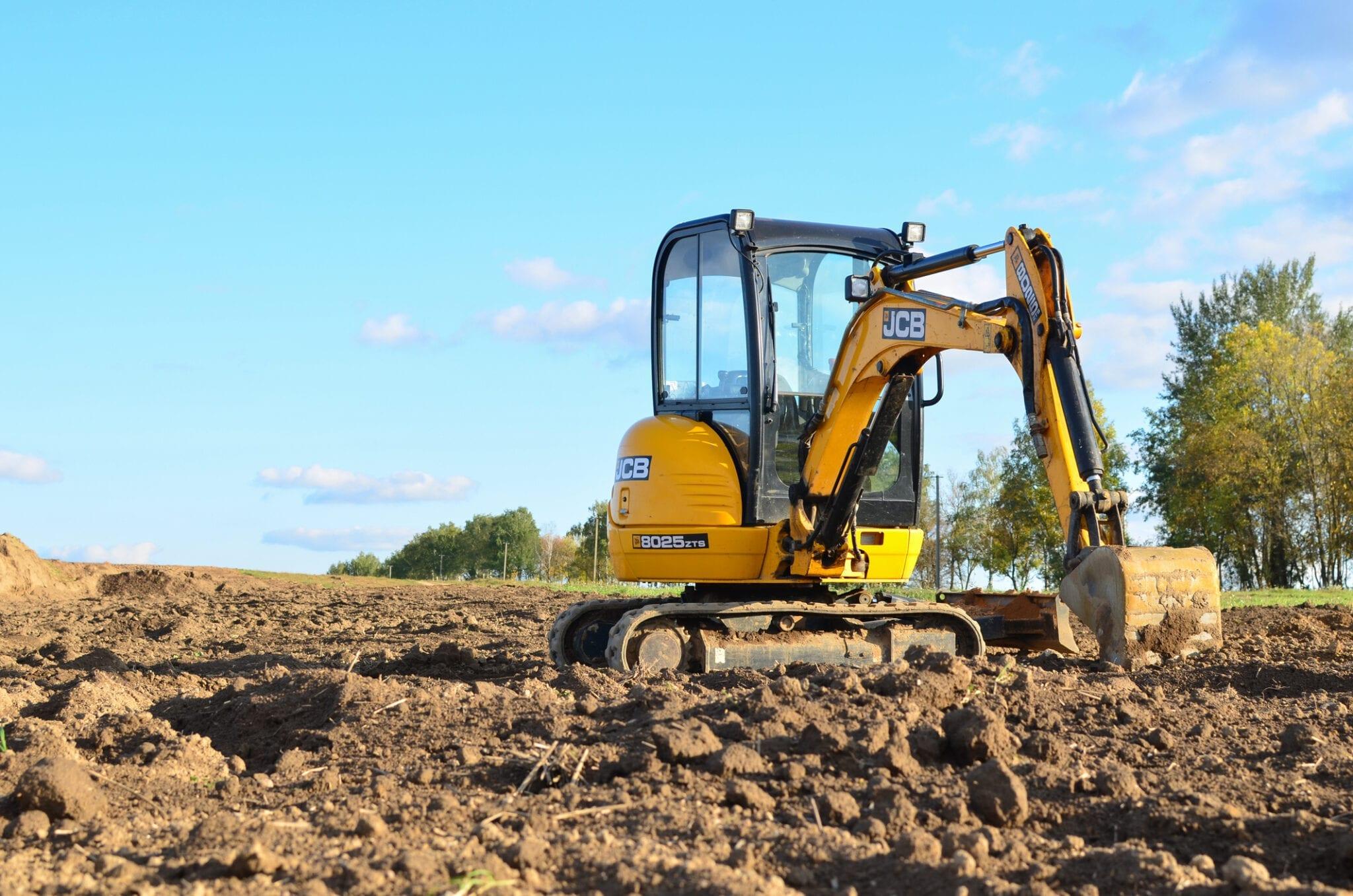 minigraver grond bouwrijp maken loonbedrijf