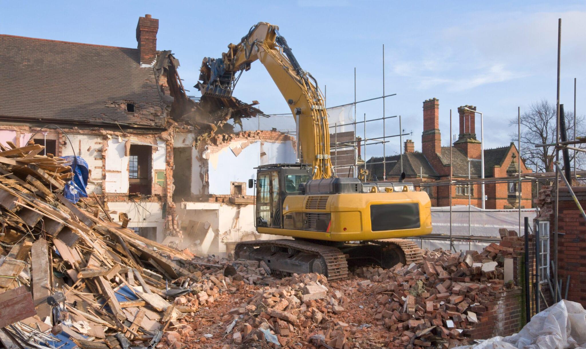 huis gebouw laten slopen sloopwerken
