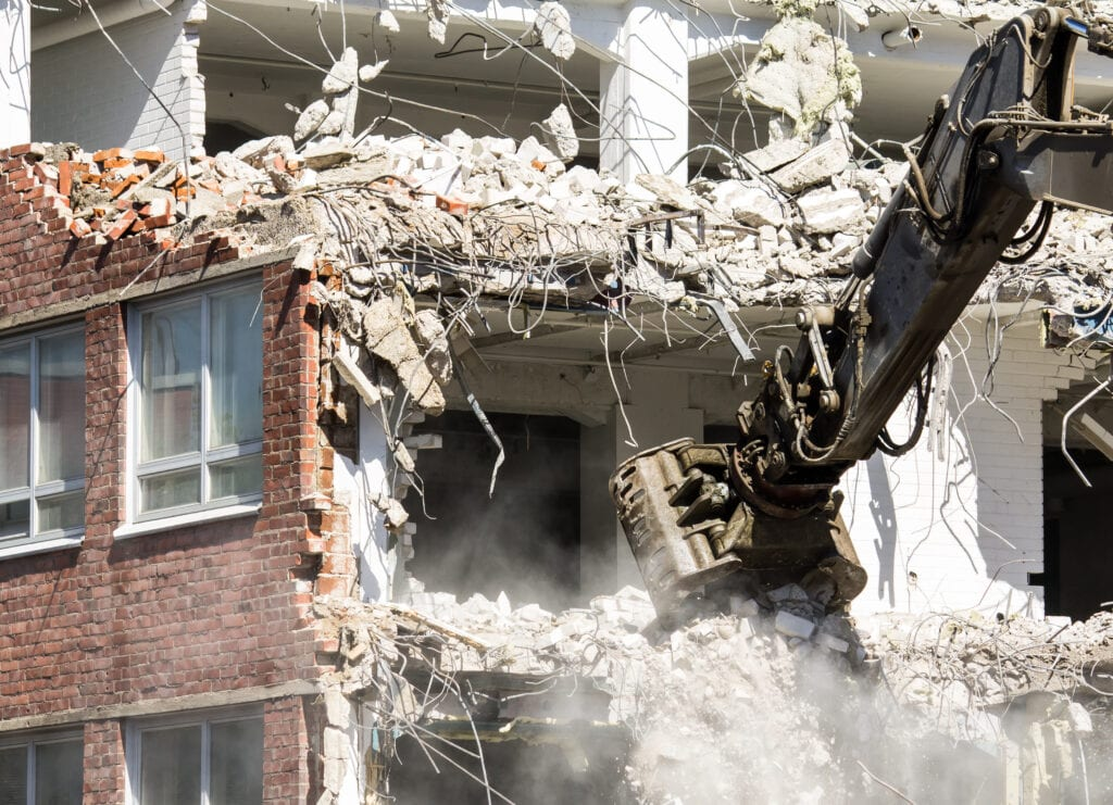 gebouw laten slopen