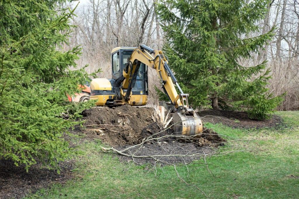 tuin uitgraven afgraven boom uitgraven prijs