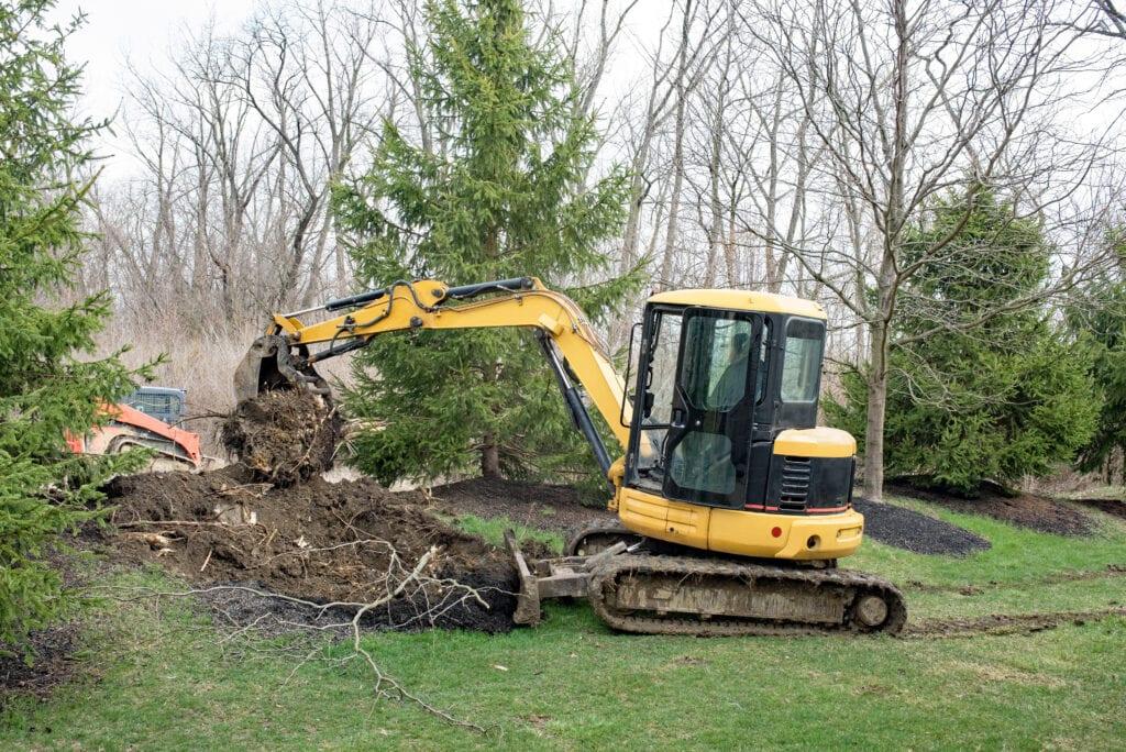 tuin uitgraven afgraven grondverzet